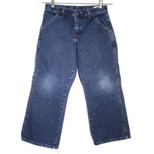 Wranglers Boys 10 Husky Blue Jeans Carpenter